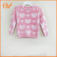 Mode Mohair Pull Patterns de tricot pour les filles de bébé