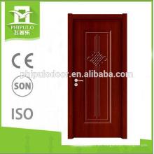 2018 diseño simple para la puerta de madera abatible del panel de tablero de melamina de la escuela