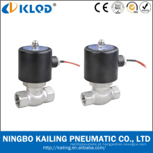 Nos série da válvula de solenoide para vapor inox