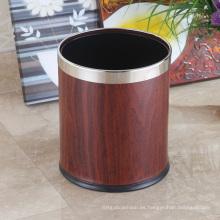Cubo de basura redondo superior abierto del acero inoxidable 10L (K-10LB)