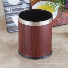 Высококачественная нержавеющая сталь 10L Открытая верхняя круглая мусорная корзина (K-10LB)