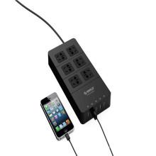 Chrismas ORICO HPC-6A5U 6 tomada elétrica com 5 USB HUB