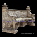 Stein Marmor Antik Gartenstuhl für Gartendekoration (QTC066)