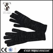 Custom warm winter women gloves with slive metal