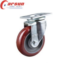 100mm Medium Duty Rotating Castor with PU Wheel