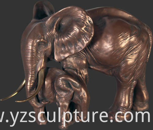 Bronze Garden Elephant Sculpture
