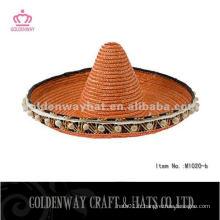 Chapeaux et casquettes sombrero mexicain en paille pour hommes