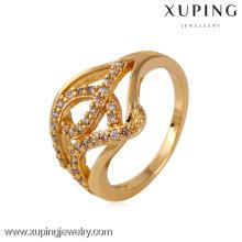 K11523 China Wholesale Xuping Moda Elegante Anel de Mulher de Ouro Dourado