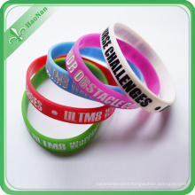 Cheap Price Custom Logo Promotional Printed Silicone Bracelet