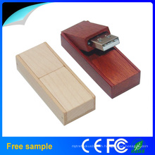 Foldable Wooden USB 2.0 Flash Drives OEM Logo Flash Memory Disk