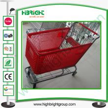 11 años de carrito de compras de plástico