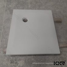 Custom made solid surface shower tray 80x80