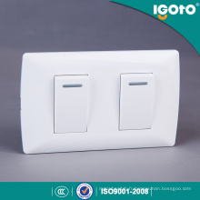 Igoto America Style Electrical 2 Gang 1 Way Switch 2 Gang 2 Way Wall Switch