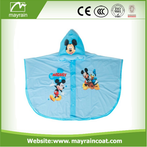 Cartoon Kids Poncho