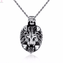 Top Sale Stainless Steel Sliver Wolf Head Punk Style Pendant