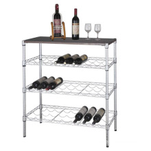 DIY Modern Metal Wine Bottle Rack Organizer, NSF Approval