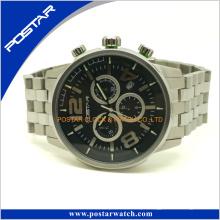 Relógio de quartzo popular do Ce da compra em linha com a faixa 316L de aço inoxidável