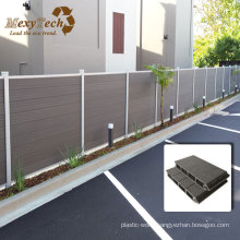 Durable Wood Grain Alu-WPC Outdoor Fence