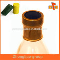 Plastic shrink band heat seal label with full color print for wine bottle cap