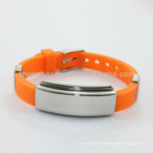 Wholesale cheap custom silicone bracelets with rubber bracelet