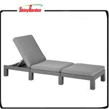 Aluminium Falten PE Rattan Pool Sun Liegestuhl mit Kissen
