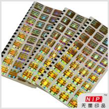 Adesivos holográficos numeração Serial ouro logotipo personalizado para a autenticação