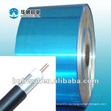 Tira de aluminio con PET para el cable de wraping