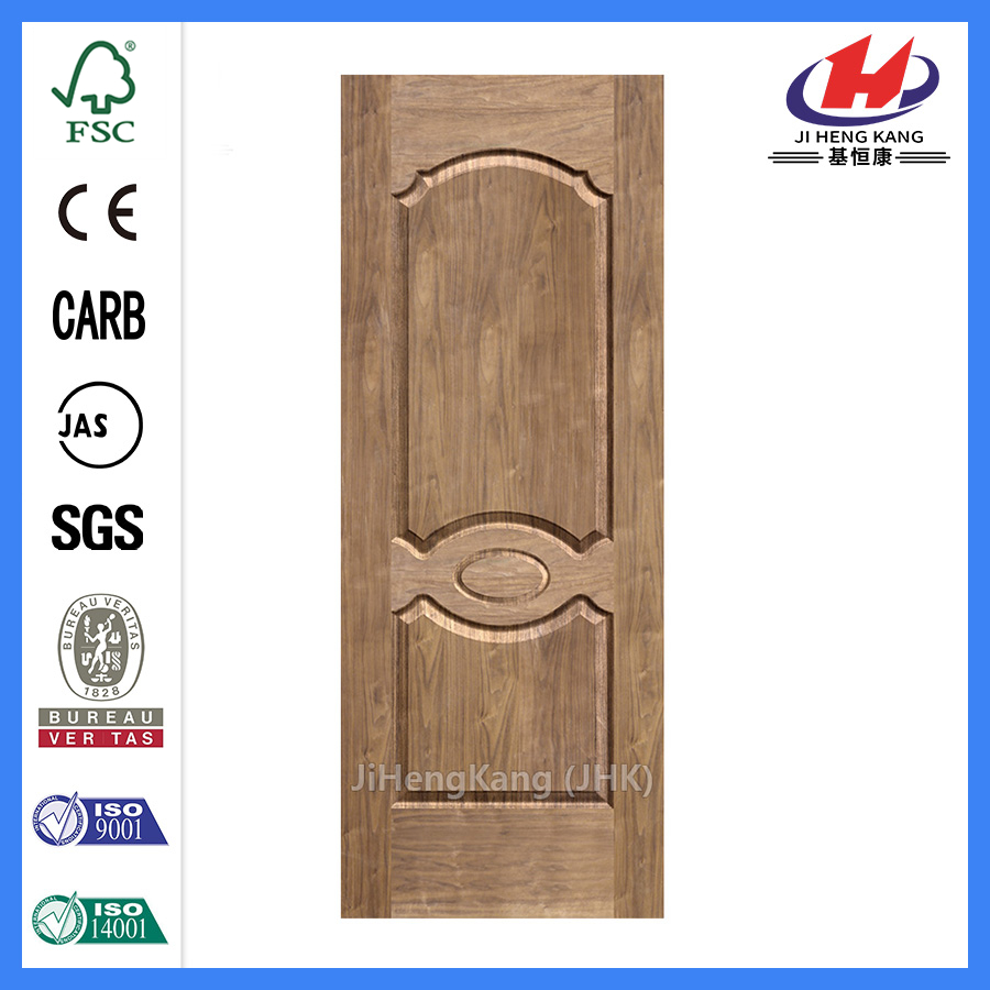 JHK-007 Natural Bubingga   MDF Wood Door Skin