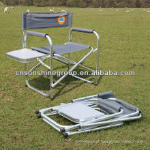 Cadeira diretor com mesa - cadeira dobrável interior/exterior de dobramento