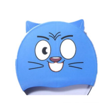 Wholesale Small MOQ Cartoon Silicone Kids Swim Cap