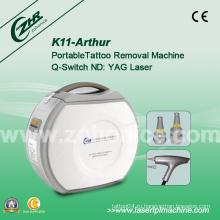 K11 Лазер Q переключатель ND YAG лазер Удалить татуировку