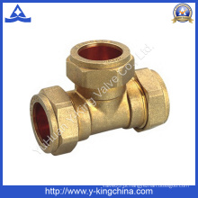 Latão Tee Pipe Fitting para Pex Fitting (YD-6038)