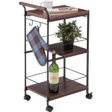 kitchen trolley slides with casters natural interior storage kitchen trolley side table