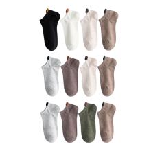 Mens Womens Plain Cotton Low Cut Ankle Socks