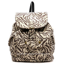 2015 Popular Zebra Canvas Designer Ladies Backpack (ZXS0037)