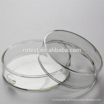 Buena calidad de vidrio de borosilicato 90mm placa de Petri