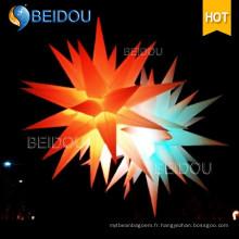 Étoile à grande épreuve Décoration de fête de mariage Jellyfish Lighted Inflatable Star
