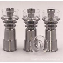 Novo Design 14 milímetros fêmea Domeless Titanium Nail com Quartz Bowl