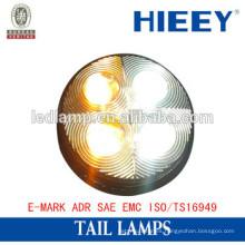 3 '' LED redondo de luz diurna para camión y remolque IP67 camión luz trasera