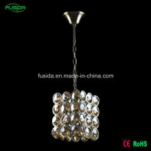 Modernes weißes rundes quadratisches Kristall ein helles hängendes Licht für Hochzeits-Dekoration