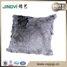 Almohadas decorativas de piel de cabra