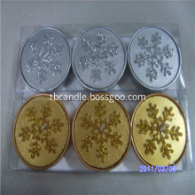 Lovely Snowflake Tealight Candle Winter Holiday Gift Snow Flower