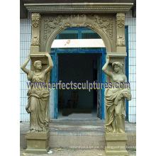 Porte en pierre en granit en pierre de marbre entourant l'arche de porte (DR044)
