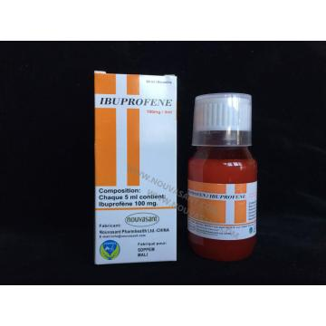Factory selling for Antipyretic Analgesics IBUPROFEN FOR ORAL SUSPENSION 100MG/5ML, 60ML supply to Saint Vincent and the Grenadines Suppliers