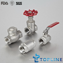 Válvulas industriales de acero inoxidable (control, bola, puerta)
