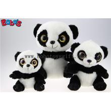 Venda quente brinquedos de animais panda recheados com olhos grandes Bos1167