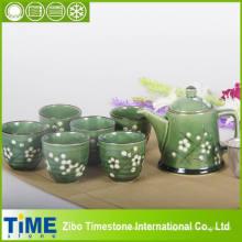 Service à thé de style coréen en céramique en grès (15031901)