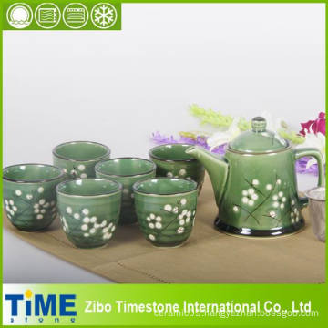 Stoneware Ceramic Korean Style Tea Set (15031901)