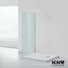 Bandeja do chuveiro da pedra da resina do banheiro de KKR / bandeja do chuveiro clawfoot