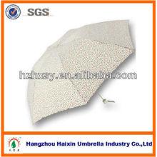 Mini parapluie pliable de tissu de pongé de 7K facile à porter